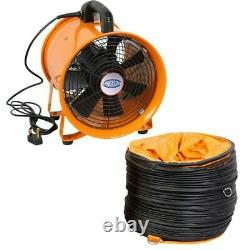 Portable Ventilator Axial Blower Workshop Extractor Fan 10 with 2 x ducts
