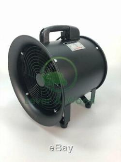 Portable Ventilator Axial Blower Workshop Extractor Fan & 5m Duct 16 inch