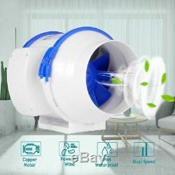 Silent Inline Duct Fan Strong Ventilation System Kitchen Bathroom Extractor Fan