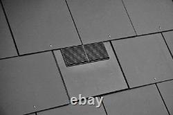 Slate Vent Tile Roof Ventilator 600 x 300 mm 10K Adaptor Kit For Extractor Fan