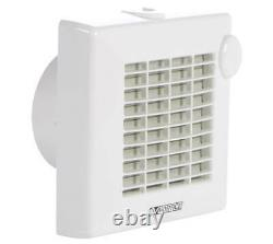 Small extractor fan wall mounted bathroom fan Vortice Punto M 100 up to 93 m³/h