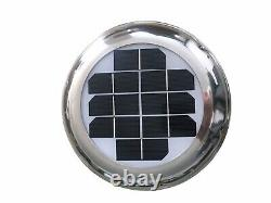 Solar Powered Ventilator Extractor Fan & Battery Backup Stainless Steel Boat RV