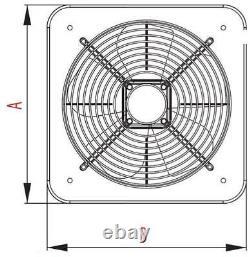 Stainless Steel Industrial Extractor Fan 210mm Heavy Duty Commercial Ventilator