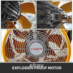 VEVOR 12 500W ATEX Rated Axial Fan Explosion-Proof Ventilator Extractor Blower