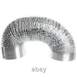Ventilation 6/150mm Combo Extractor Fan + Silencer + Aluminium Ducting Vent