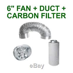 Ventilation Combo 6 Inch Vent Fan + Ducting + Carbon Filter For Grow Tent Room