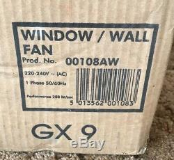 Xpelair GX9 9-225mm Extractor Fan Wall Window Air Ventilator Kitchen 00108AW
